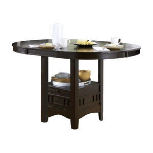 Townsford Round / Oval Counter Height Table with Storage Base