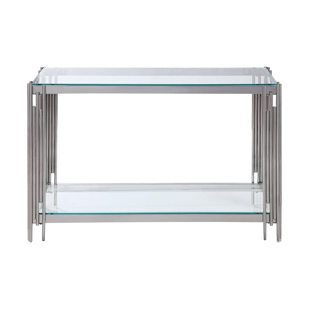 Damsel Sofa Table with Glass Top