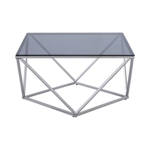 Allium Cocktail Table with Gray Glass Insert