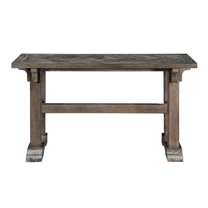 Wooden Console Table in Driftwood Brown