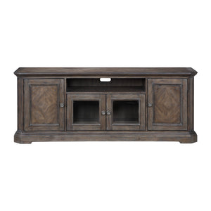 "74"" Wooden TV Stand in Driftwood Brown"