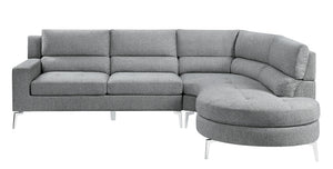 "Gray 102"" 2-Piece Sectional with Right Chaise"
