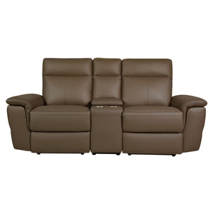 Fleming Power Double Reclining Love Seat with Console
