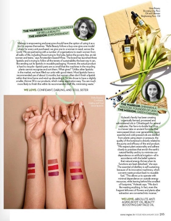Rella Beauty in Vogue India