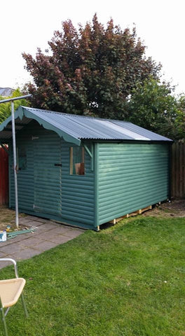 Log Effect Garden Shed