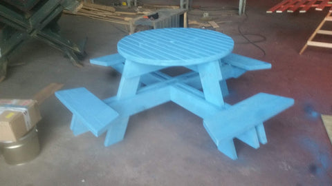Eight Seater Round Bench