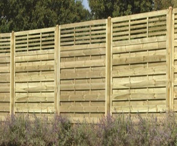Panel fencing installation