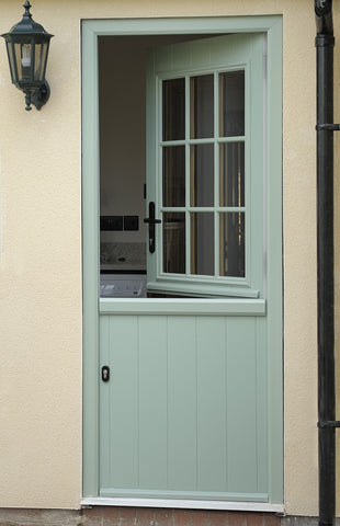 Half door with glass panel