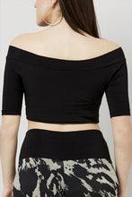 Load image into Gallery viewer, Love Kiki (Aria) - Jersey Knit Fitted Crop Top. Rear view.