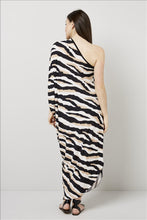 Load image into Gallery viewer, Love Kiki (Athena) - Jersey loose fit dress with single sleeve. Rear View 2