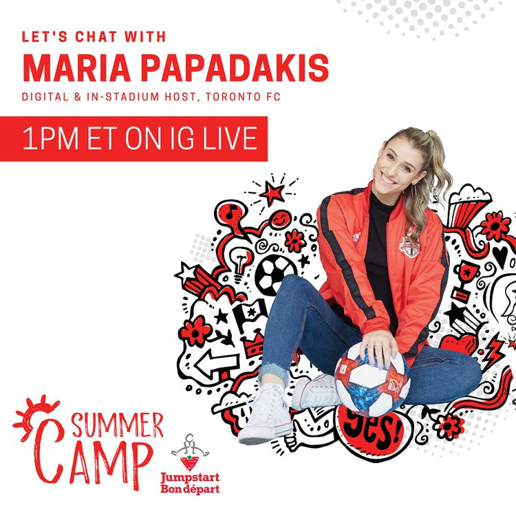 Let's chat with Maria Papadakis at 1pm ET on Instagram Live