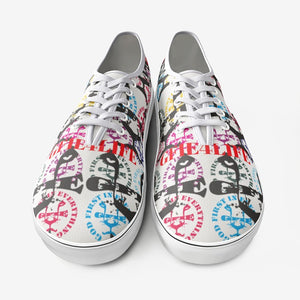 GFIE Multi Color Unisex Canvas Low Cut Sneakers