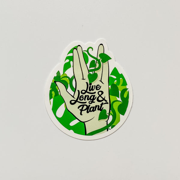 Plant Parent Sticker Pack, Set of 5 | Live Long and Plant
