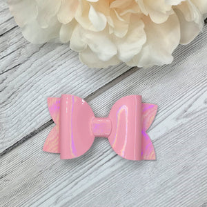 Pink Patent Beauty Bow