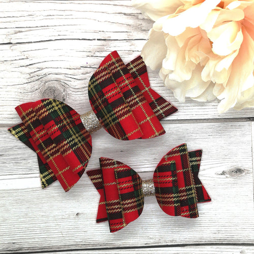 Red Tartan Dolly Bow