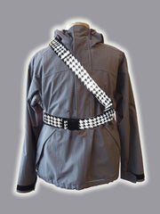 RR001HTB Retro Reflective B&W Houndstooth Belt
