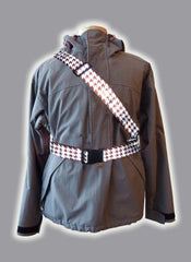 RR003HTBR Retro Reflective Houndstooth Dark Brown  Belt