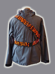 RR012ORA Retro Reflective Orange Leopardskin Belt