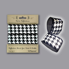 RR031HTB   Retro Reflective B&W Houndstooth Band