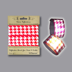 RR032HTR Retro Reflective Red Houndstooth Band