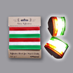 RR041RWG Retro Reflectives red,white,green stripe bands