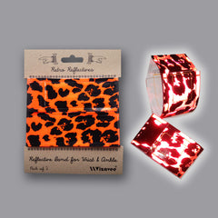 RR042ORA Retro Reflectives Orange Leopardskin band