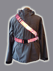 RR002HTR Retro Reflective Houndstooth Red Belt
