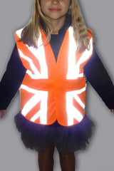 3. Retro Reflective  'Union Jack'  Hi Vis Childs  Safety Vest