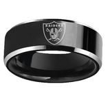 NFL Oakland Raiders Team Logo Stainless Steel Ring - Snag Your Treasure