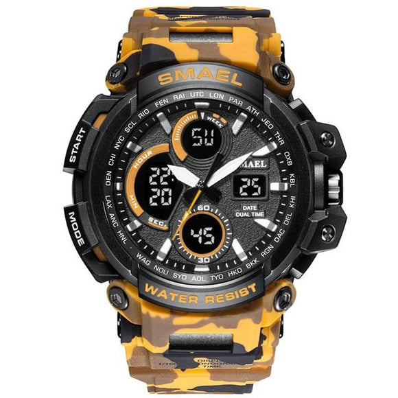 Men 's Sporty Dual Display Analog Digital LED Camouflage Watch - Snag Your Treasure