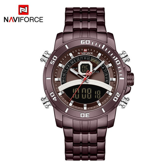 NAVIFORCE Business Watch Men Digital Quartz Wristwatch - Snag Your Treasure