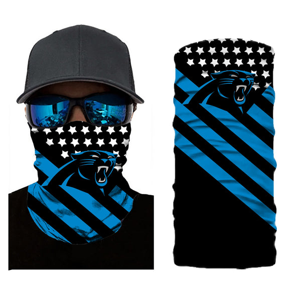 Football Carolina Panthers 3d Breathable Face Scarf Neck Gaiter Masks - Snag Your Treasure