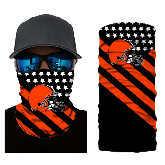 Football Cleveland Browns 3d Breathable Face Scarf Neck Gaiter Masks - Snag Your Treasure