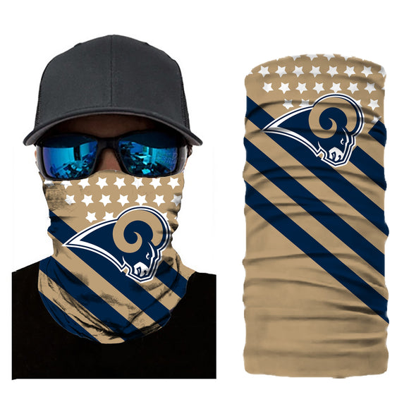 Football Los Angeles Rams 3d Breathable Face Scarf Neck Gaiter Masks - Snag Your Treasure