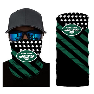 Football New York Jets 3d Breathable Face Scarf Neck Gaiter Mask - Snag Your Treasure