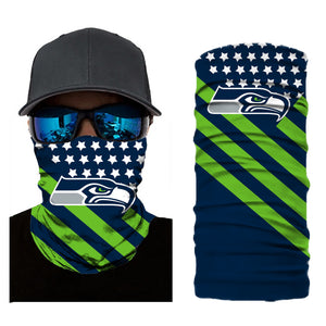 Football Seattle Seahawks 3d Breathable Face Scarf Neck Gaiter Masks - Snag Your Treasure