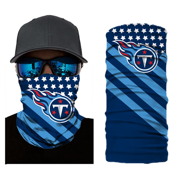 Football Tennessee Titans 3d Breathable Face Scarf Neck Gaiter Masks - Snag Your Treasure