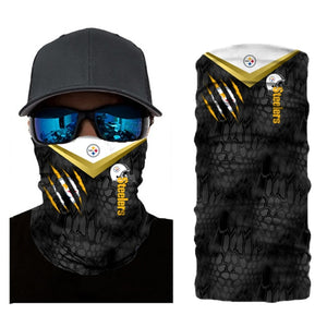 Football Pittsburgh Steelers 3d Breathable Face Scarf Neck Gaiter Masks - Snag Your Treasure