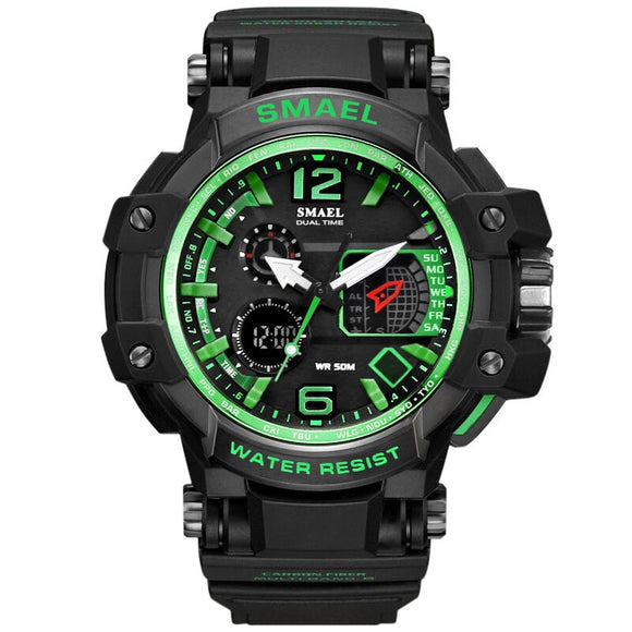 SMAEL Sport Watch Men Digital Watches Rubber Quartz Wristwatch - Snag Your Treasure