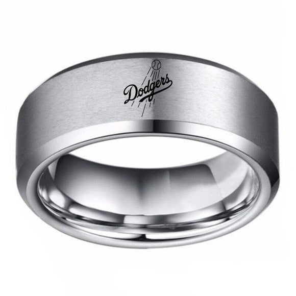 MLB Los Angeles Dodgers Team Logo Stainless Steel Ring - Snag Your Treasure