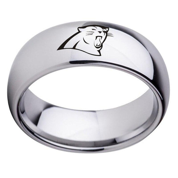 NFL Carolina Panthers Team Stainless Steel Metal Ring Jewelry - Snag Your Treasure