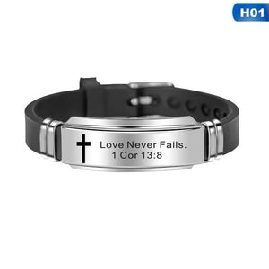 Faith Inspiring Quotes Leather Bracelets - Snag Your Treasure