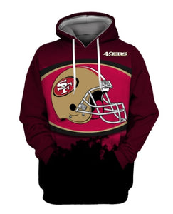 Casual Hoodies San Francisco 49ers 3d Print Football Loose Sweatshirt Hoodie - Snag Your Treasure