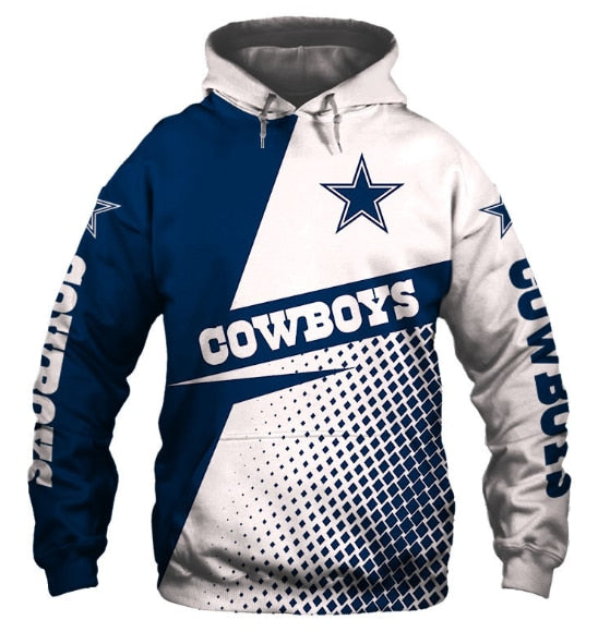 Casual Hoodies Dallas Cowboys 3d Print Football Loose Sweatshirt Hoodie - Snag Your Treasure