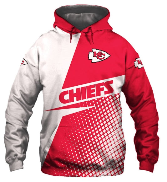 Casual Hoodies Kansas City Chiefs 3d Print Football Loose Sweatshirt Hoodie - Snag Your Treasure