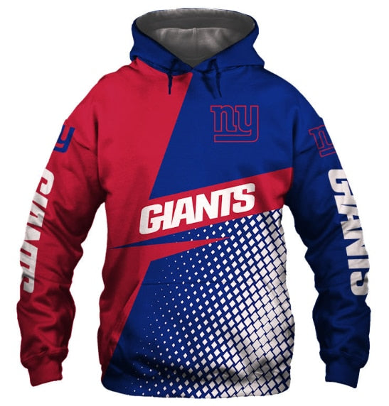 Casual Hoodies New York Giants 3d Print Football Loose Sweatshirt Hoodie - Snag Your Treasure