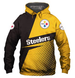 Casual Hoodies Pittsburgh Steelers 3d Print Football Loose Sweatshirt Hoodie - Snag Your Treasure