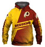 Casual Hoodies Washington Redskins 3d Print Football Loose Sweatshirt Hoodie - Snag Your Treasure