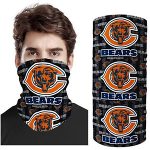 NFL Football Chicago Bears 3d Breathable Face Scarf Masks - Snag Your Treasure