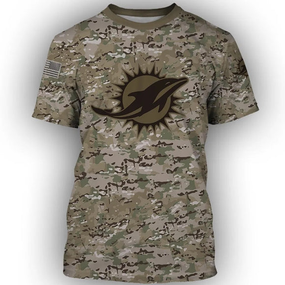 Cool Football NFL Camouflage 3D T-shirt - Snag Your Treasure